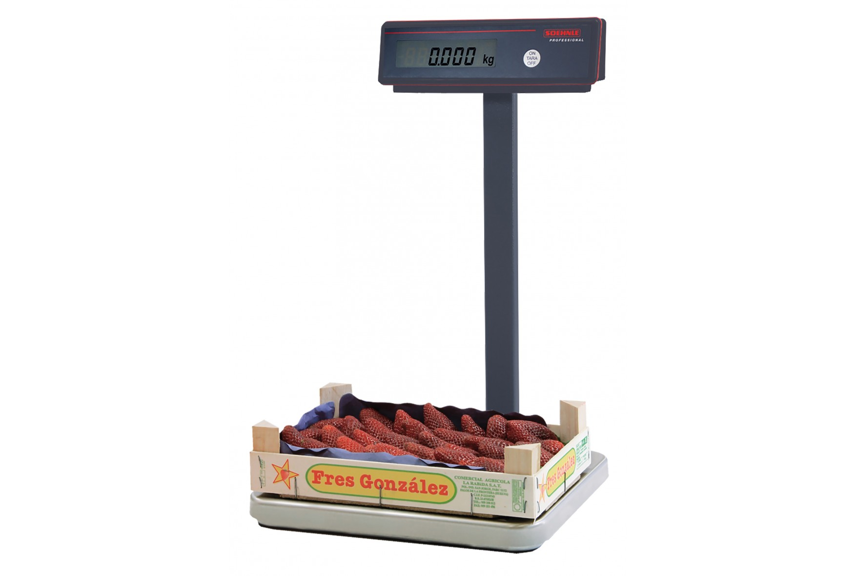 Scales for fruit and vegetable harvesting